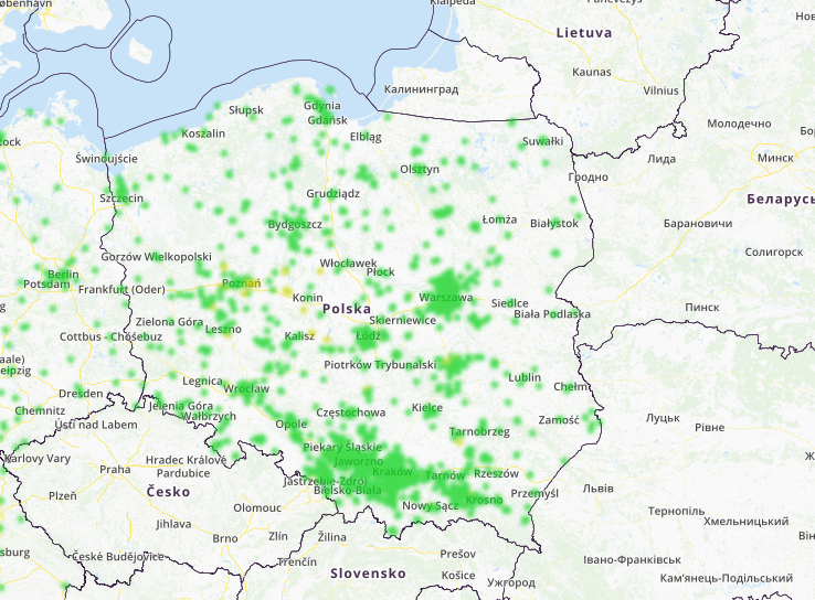 mapa smogu